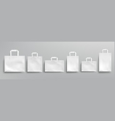 mockup white paper eco bags vector image