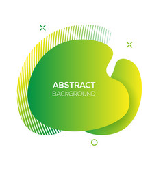 Modern futuristic green cover element vector