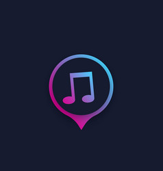 Music icon or logo for apps vector
