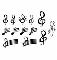 music keys and notes vector image