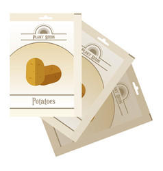pack of potatoes seeds icon vector image