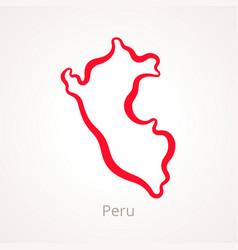 Peru - outline map vector