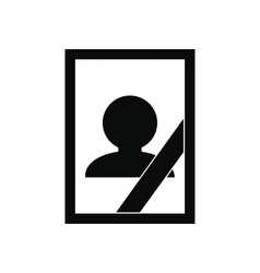 Photo of deceased icon vector image