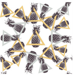 Pineapple fruit abstract background pattern vector