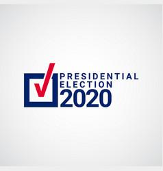 Presidential election 2020 template design vector
