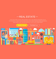 Real estate design concept set with online search vector