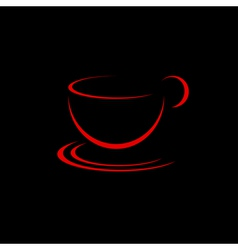 Red cup vector