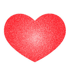 red heart made of many small circles vector image