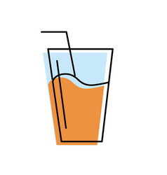 Refreshment glass to freshness and healthylife vector
