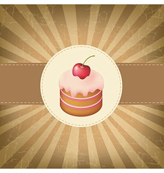 Retro Label With Cupcake vector