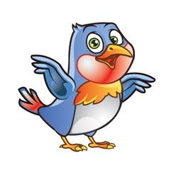 Robin Bird Mascot vector image