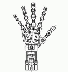 Robotic arm drawing model it can be used as an vector