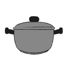 Saucepan draw vector