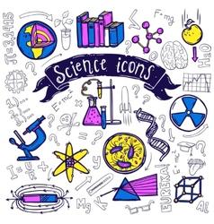 Science symbols icons doodle sketch vector