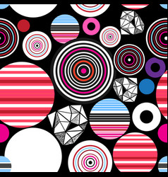 seamless bright abstract pattern geometric vector image