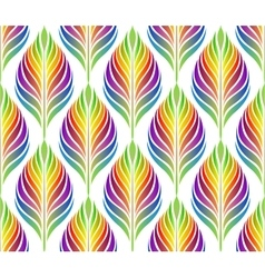 Seamless pattern with colorful leaves EPS vector image