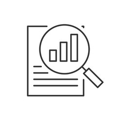search report line icon on white background vector image