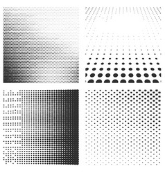 set halftone black pattern isolated on a white vector image