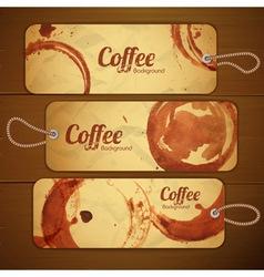 Set of vintage coffee labels vector image