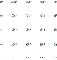 snail icon pattern seamless white background vector image