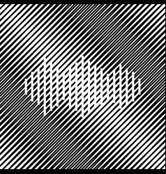 Sound waves icon icon hole in moire vector