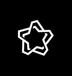 star abstract line monoline maze logo icon vector image