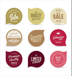 stickers collection vector image