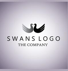 swans ideas design vector image