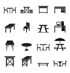 Table icons set vector