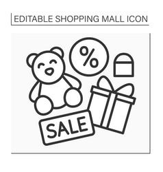 Toy shop line icon vector