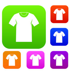 tshirt set collection vector image