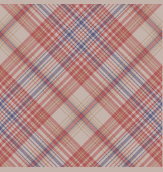 vintage plaid fabric texture seamless pattern vector image