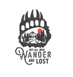 Wilderness hand drawn with image vector