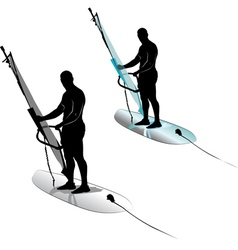 Windsurfing water sports vector image