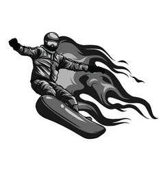 winter sport snowboarding vector image