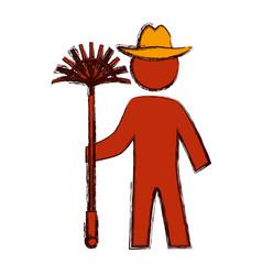 Worker gardener silhouette vector