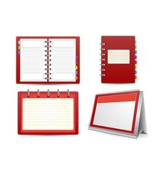 Datebook calendar and organizer set vector image