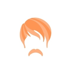Hipster male hair and facial style with hippie vector