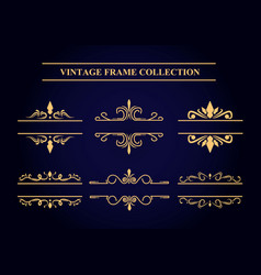 vintage frame collection vector image