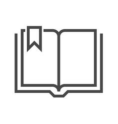 book thin line icon vector image