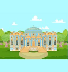 Romantic palace for a princess vector