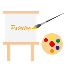 Art board and paint pallet vector image