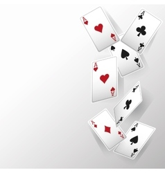 Casino and Cards of Poker design vector image vector image