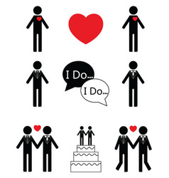 Gay man wedding vector image