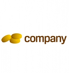 gold coins logo vector image vector image