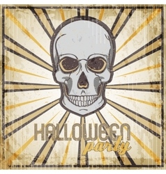 Halloween Party vintage design template for card vector image