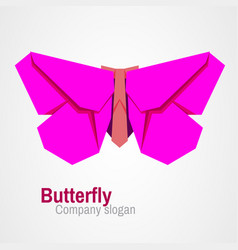 origami butterfly logo vector image vector image