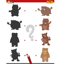 shadow game with bears vector image