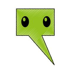 speech bubble comic character vector image vector image
