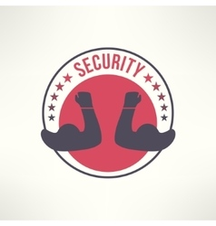 symbol of guarding protection escort and vector image
